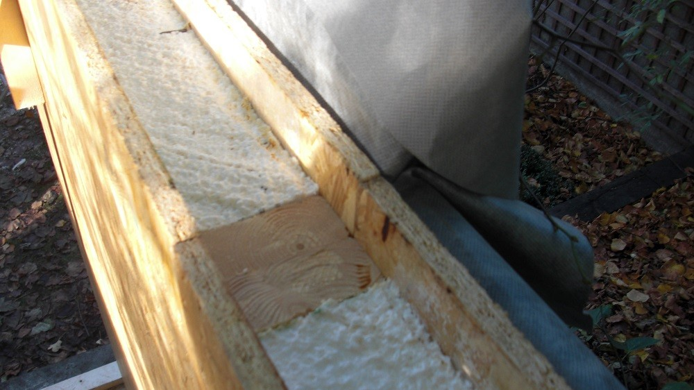 Garden room walls construction and insulation