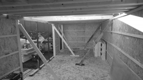 Garden studio SIP panels walls construction