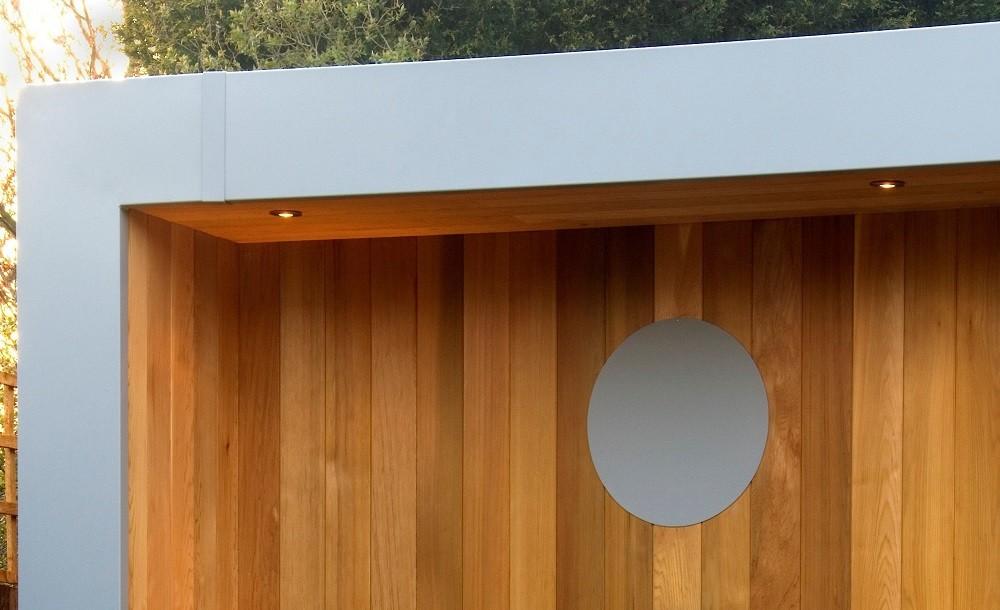 Cuberno garden room aluminium fascia