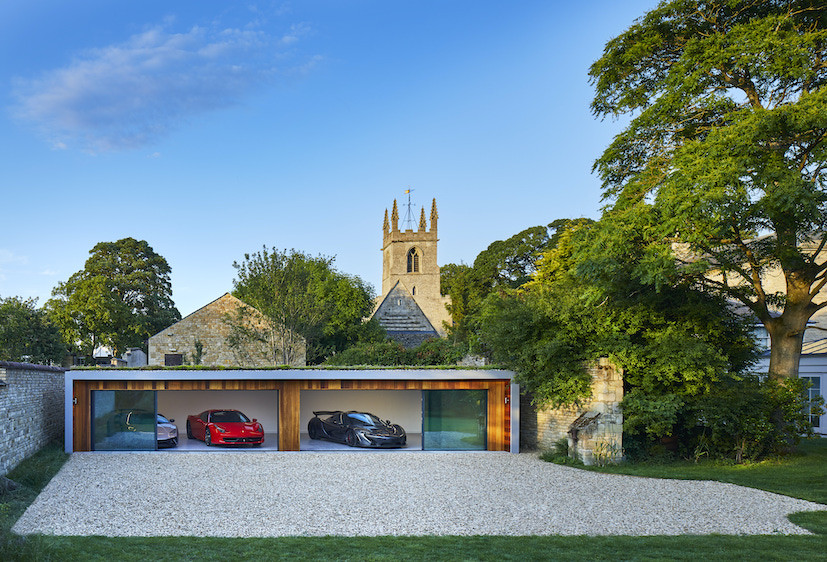 Garden garage for sport car collection