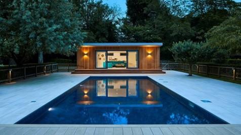 Bespoke pool side room in Essex with swimmingpool