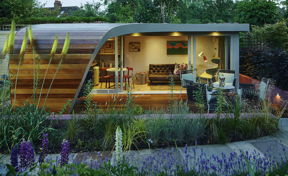 Bespoke curved garden office