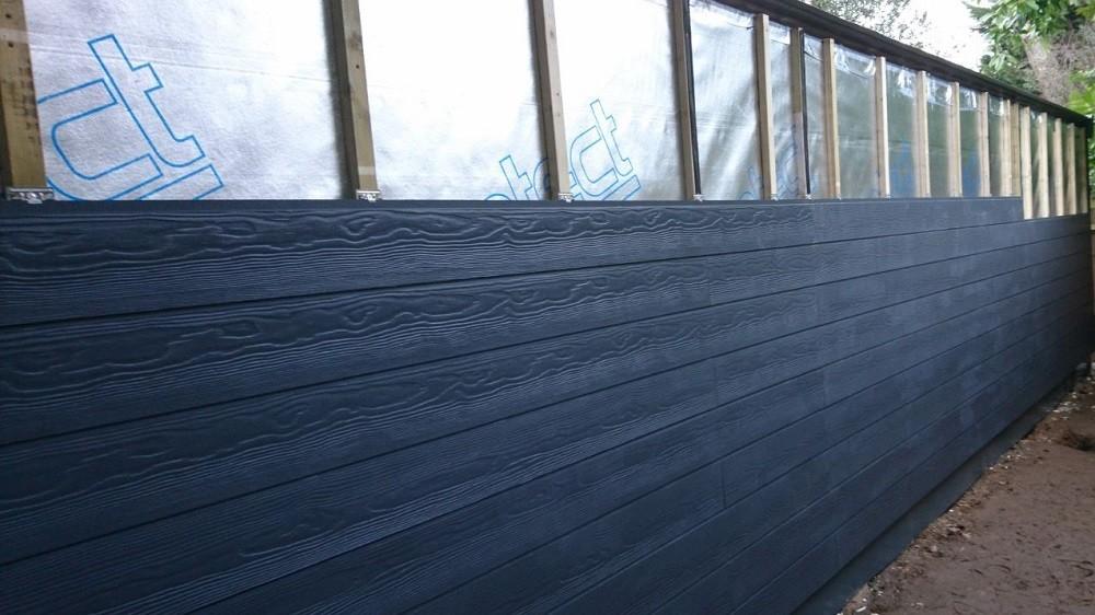 Composite cladding for garden studios