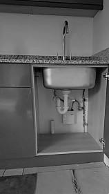 Garden annexe kitchen plumbing details