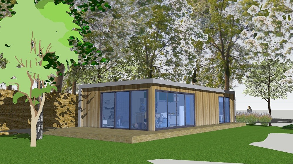 Technical drawings of garden rooms projects