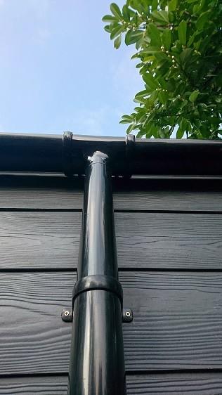 Rainwater goods systems for garden rooms