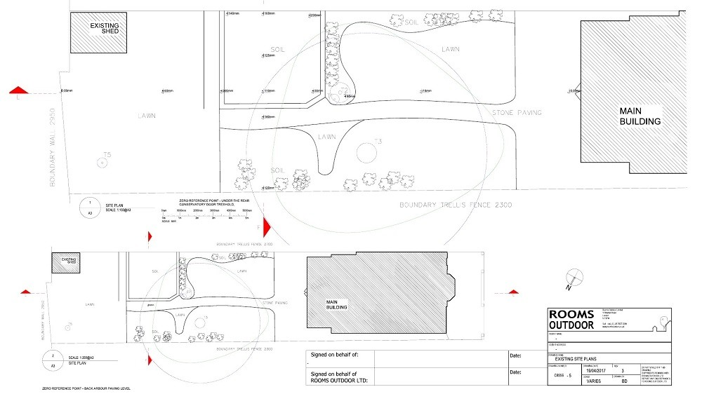 Garden survey for an outdoor room