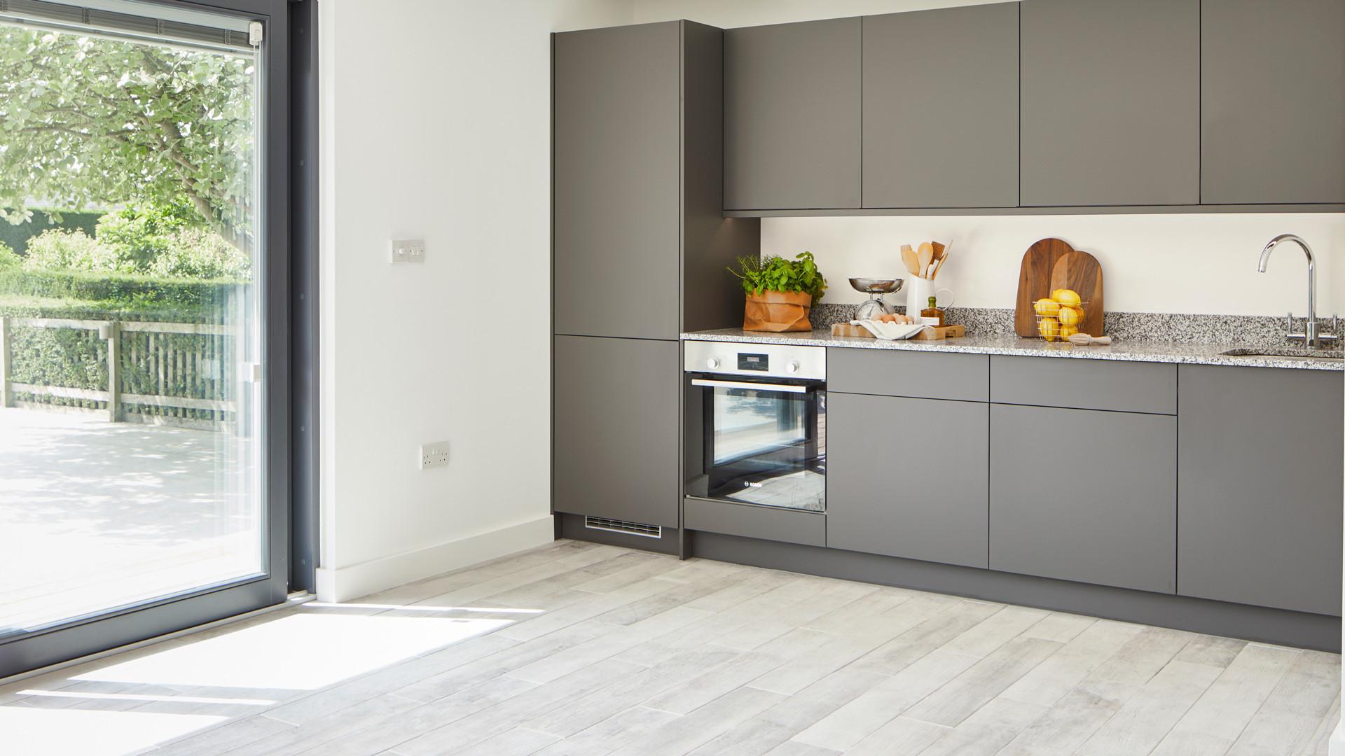 Grey Kitchen garden Annexe