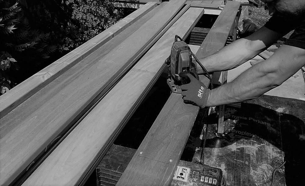 Decking construction for garden rooms