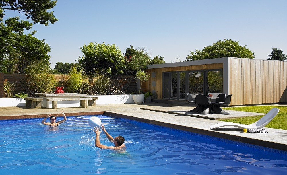 Poolside garden room