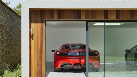 Garden room showroom car garage