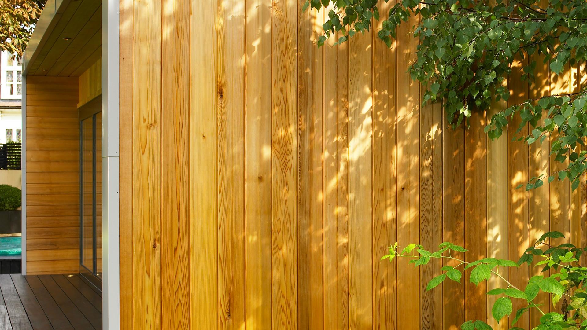 Contemporary cedar cladding annexe