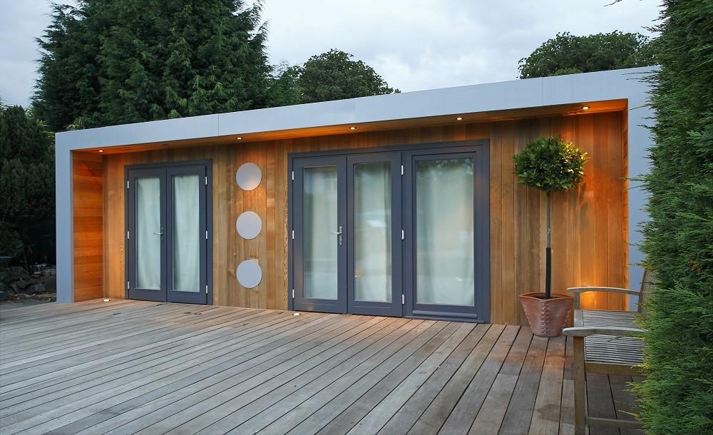 Hardwood decking option for your garden room