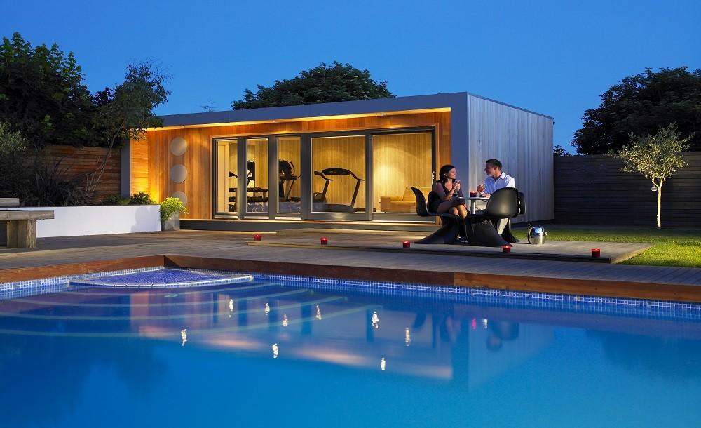 Poolside garden studio and gym