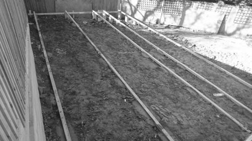 garden office foundations